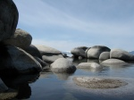 Boulders on the shore of Tahoe